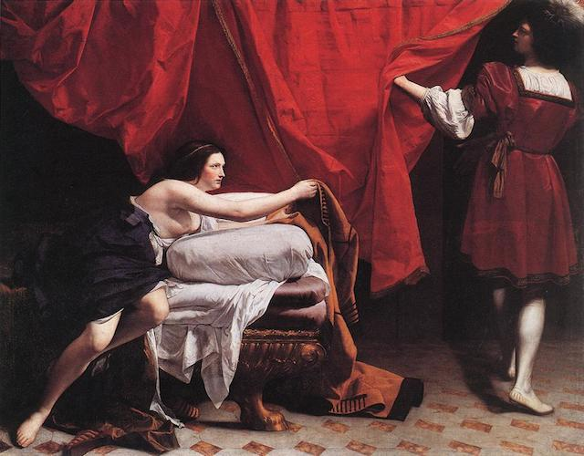 Orazio_Gentileschi_002 Joseph and Potiphar's wife