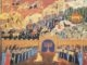 "Detail from ""The Story of Hanukkah"" by Ori Sherman. (Courtesy of Magnes Collection of  Jewish Art and Life)"