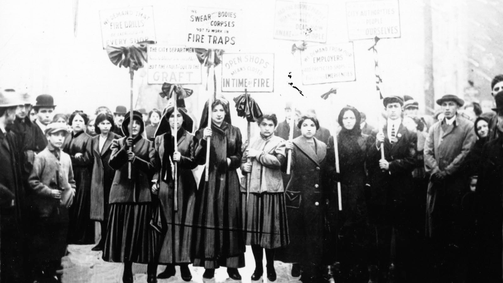 Mourners picketing after the Triangle Shirtwaist Fire, 1911. (The Kheel Center for Labor-Management Documentation and Archives)