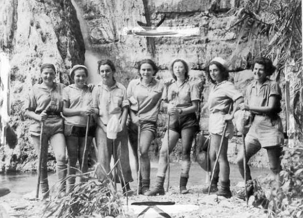Female members of the Palmach in Ein Gedi, Israel, in 1942. (Hashomer Hatzair Archives/Wikimedia commons)