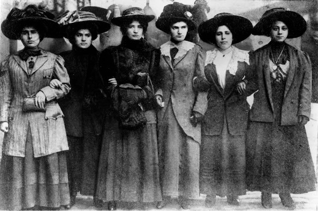 Six_Shirtwaist_Strike_women_1909