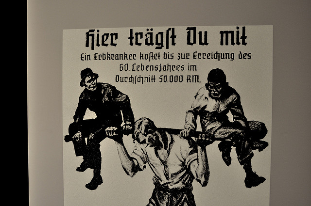 A Nazi propaganda poster against the disabled. (Grafeneck Euthanasia Museum/Flickr)
