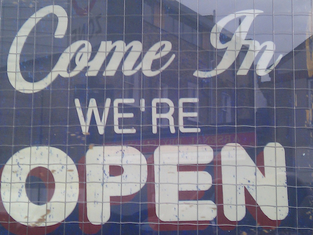 welcome come in we're open