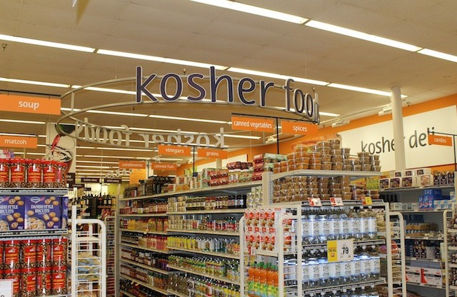 The kosher section at Winn-Dixie's Boca Raton, Florida store in 2014. (Uriel Heilman/JTA)