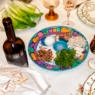 Traditional Passover seder table