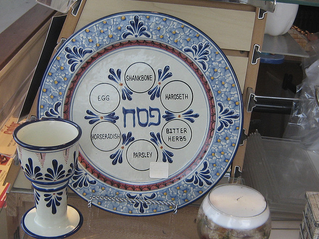 seder plate with labels