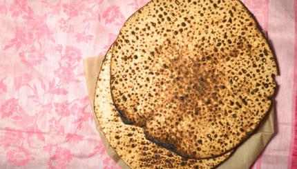 Round Matzah bread for Passover