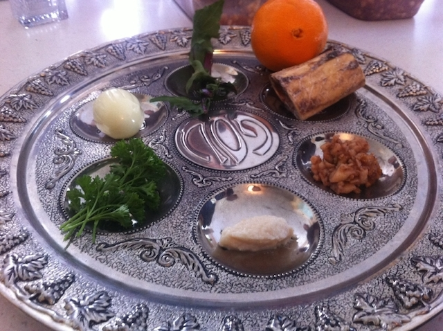 seder plate with orange