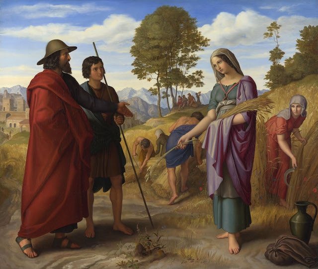 """Ruth in the Fields of Boaz"" by Julius Schnorr von Carolsfeld (Wikimedia Commons)"
