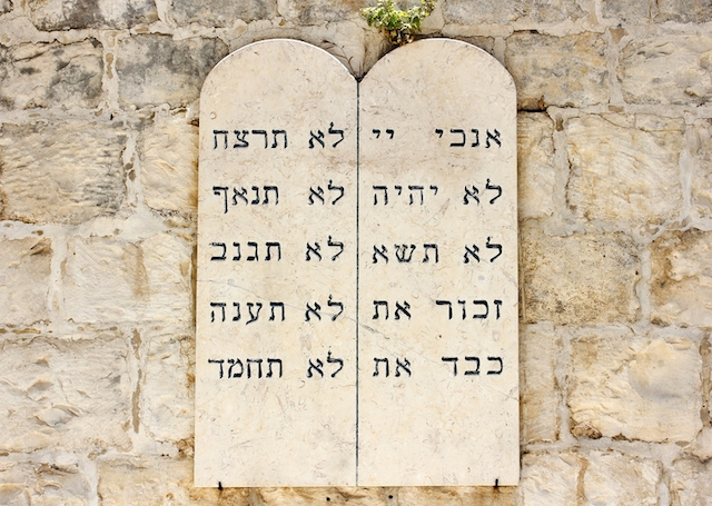 10 ten commandments, Jerusalem, Israel