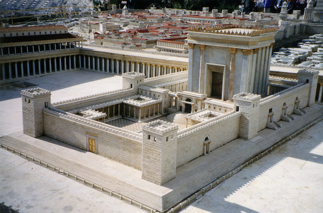 model of second temple (wikimedia)