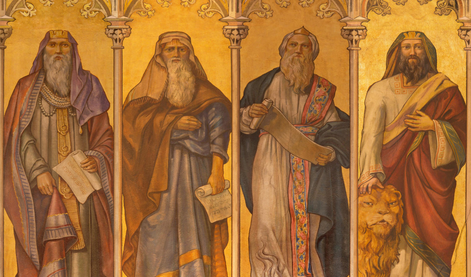 Fresco of prophets isaiah jeremiah ezekiel and daniel