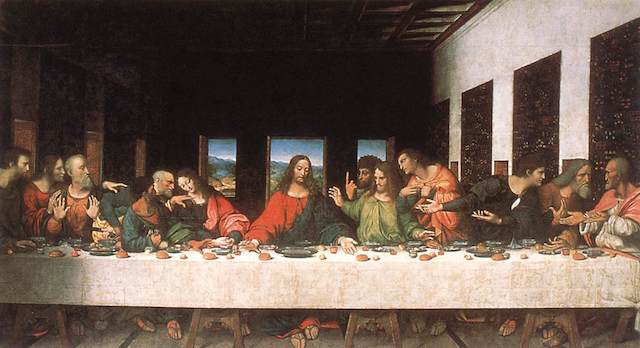 "Leonardo Da Vinci's ""The Last Supper"" depicts a Passover seder."