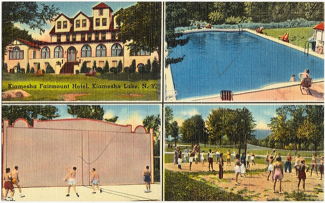 Postcard for Kiamesha Fairmount Hotel in the Catskills. (Boston Public Library/Flickr)