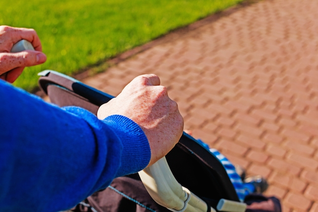An eruv enables parents to push strollers on Shabbat. (iStock)