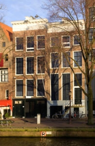 The Anne Frank House in Amsterdam, where the Frank family and four other people hid. (Massimo Catarinella/Wikimedia Commons)
