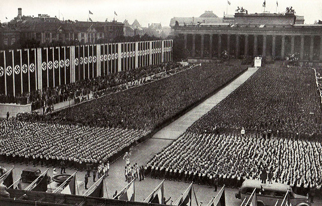 Opening ceremony at the 1936 Summer Olympics in Berlin. (National Geographic/Flickr)