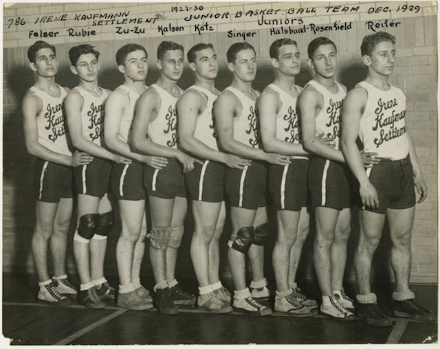 Junior basketball team at the Irene Kaufmann Settlement House in Pittsburgh, December 1929. (Courtesy of American Jewish Historical Society)