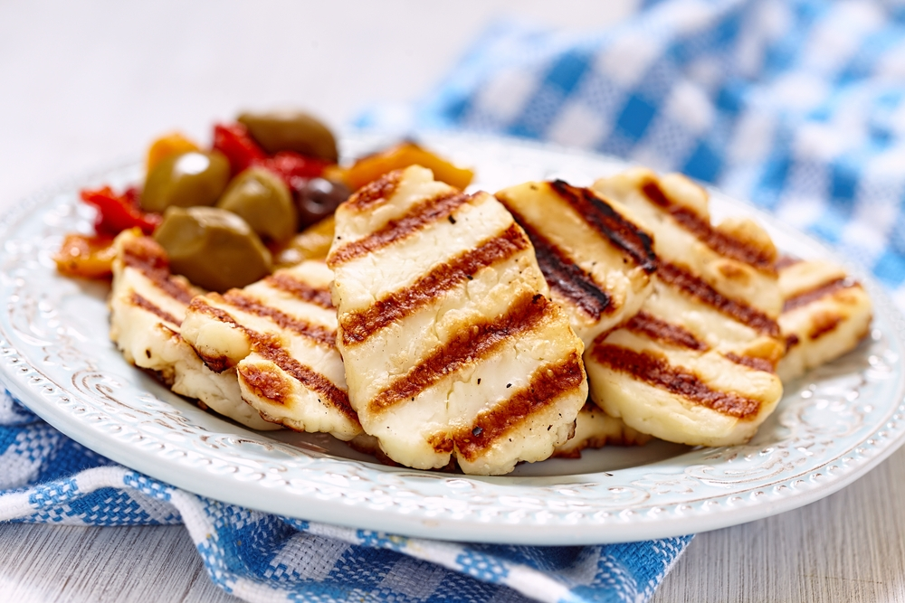 Grilled Halloumi And Red Pepper Salad My Jewish Learning