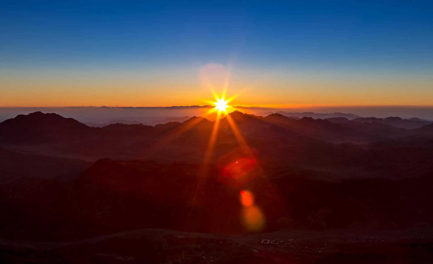 Mount Sinai, Mount Moses in Egypt. Africa.