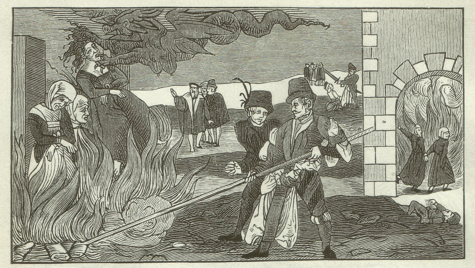 Witches witchcraft my jewish learning witch burning in the county reinstein regenstein saxony anhalt germany in 1555 woodcut engraving after an original of a leaflet in the collections of biocorpaavc Images