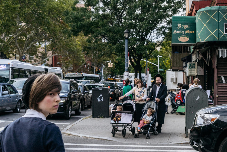 Jewish hassidic on the street.