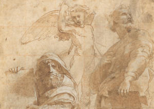 "A section of ""The Prophets Hosea and Jonah"" by Raphael, circa 1510 (Wikimedia Commons)"