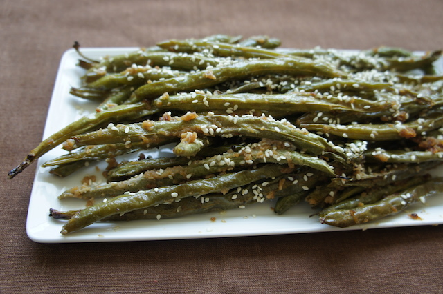 green beans with tahini