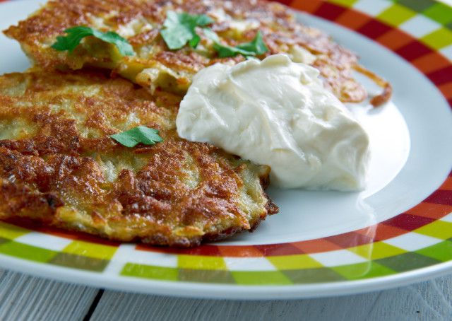 French Onion Potato Latke