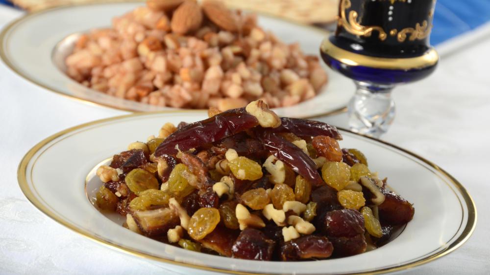 passover charoset egyptian seder plate
