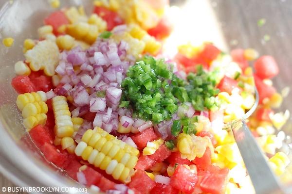 watermelon corn salsa