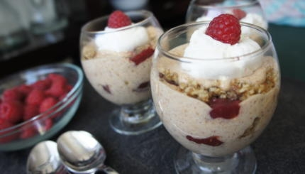 almond butter trifles