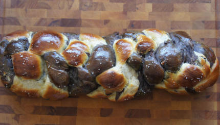 double chocolate chip challah