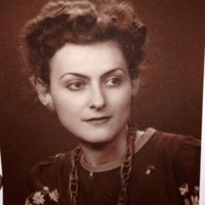 The author's grandmother in 1947