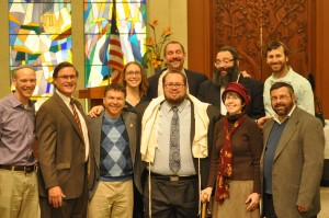 (l-r): Rabbi Mark Goodman, Rabbi Rick Rheins, Rabbi Elliot Baskin, Rabbi Keren Gorban, Rabbi Joe Black, Rabbi Ben Greenberg, Rabbi Yossi Serebryanski, Rabbi Sandra Cohen, Rabbi Bernie Gerson and Rabbi Brian Immerman