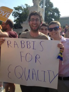 Ari stands with fellow rabbis for equality.