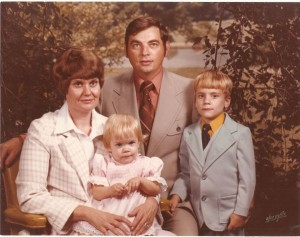 The author and her family, circa 1980.