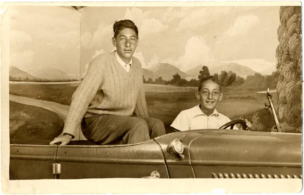 1942: Harvey with brother Robert at Coney Island. James C. Hormel Gay & Lesbian Center, San Francisco Public Library