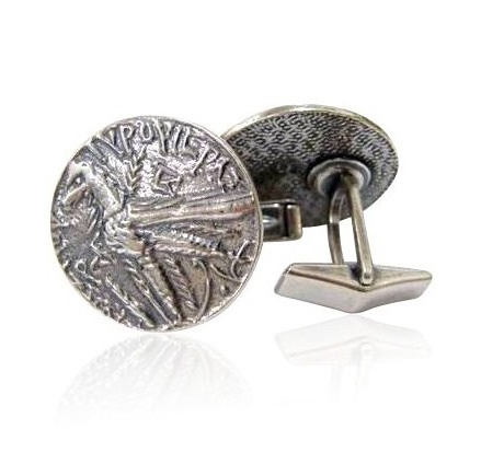 Silver-Plated Cufflinks with First Century Inscription