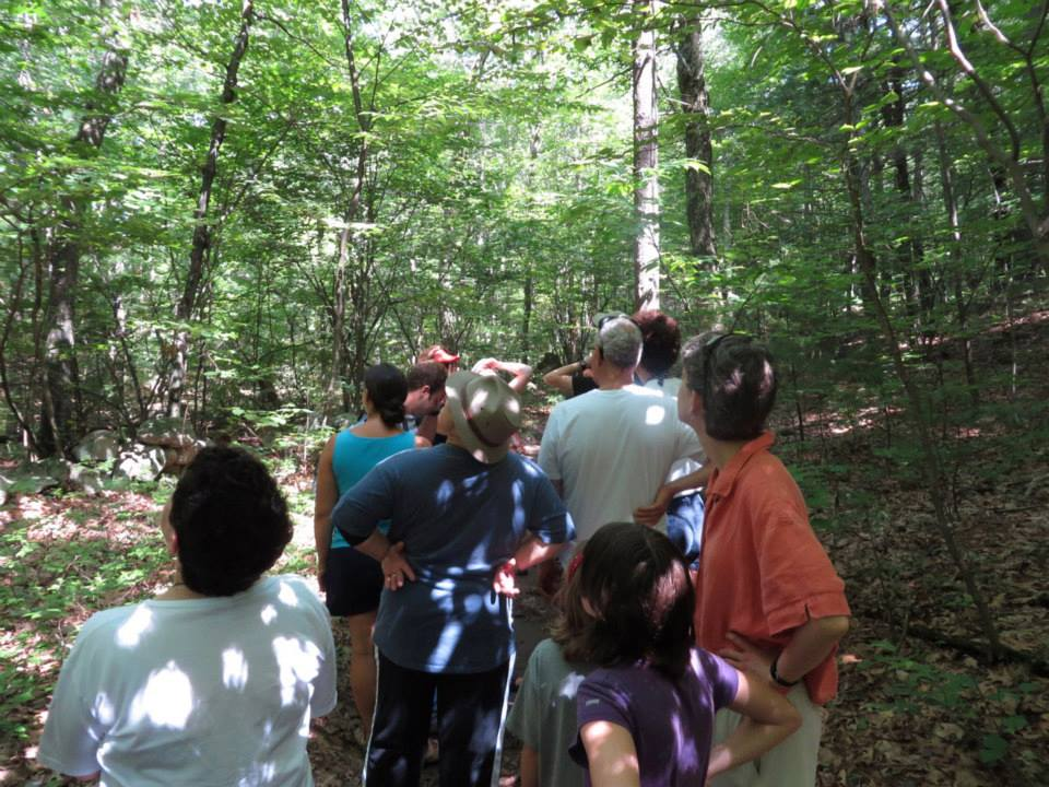 Another CBS off-site gathering: Spiritual Nature walk at our annual Summer picnic.