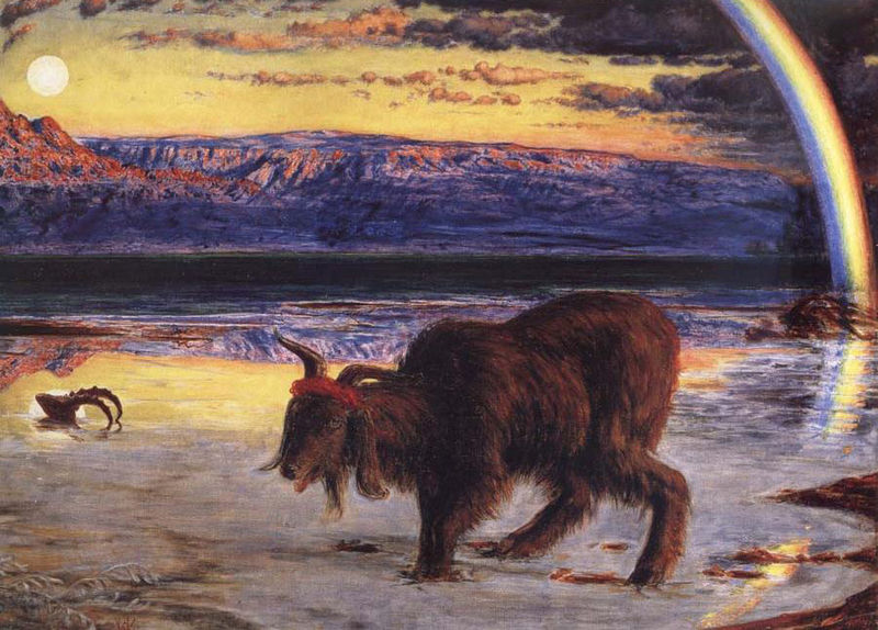 """The Scapegoat"" by William Holman Hunt. Public domain. And check out that sweatband!"