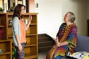 """In this image released by Amazon Digital, Amy Landecker, left, and Jeffrey Tambor appear in a scene from """"Transparent,"""" a new series on Amazon Digital."""