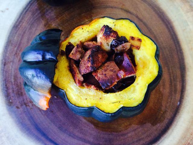 Challah stuffing stuffed acorn squash
