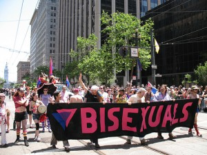 Bisexuals marching