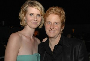 Cynthia Nixon with partner Christine Marinoni