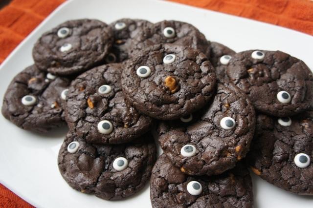 Milk chocolate monster cookies
