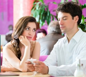 Distracted by a smartphone during a date