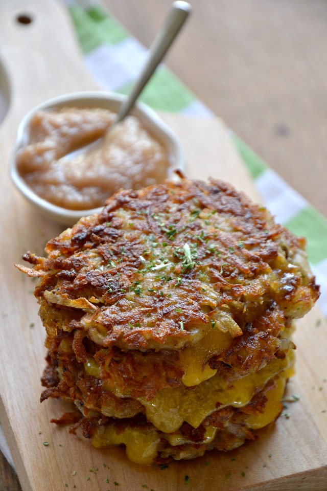 Grilled Cheese Latkes Nosher2