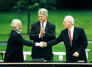 Yitzhak Rabin Bill Clinton Yassir Arafat Peace Oslo Accords Nobel Prize
