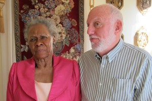 Mrs. Dessie Turner, Mark Levy. March 2011. Mr. and Mrs. Turner were the Meridian host family in 1964 who invited Mark Levy and Betty Bollinger Levy into their home and gave them save haven while they were teaching in the Freedom School.
